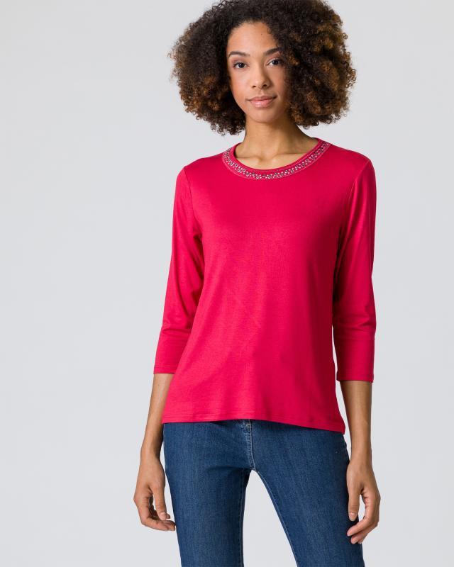 Shirt mit Metallplättchen-Deko