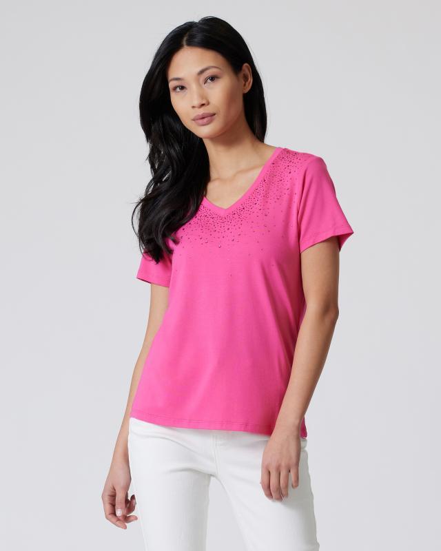 Shirt mit Strassdeko
