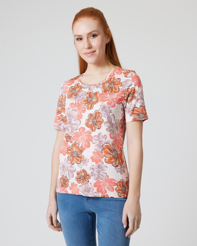 Shirt mit Blumen-Alloverdruck