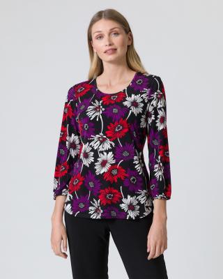 Longshirt mit Blumendruck