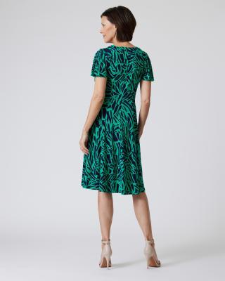 Kleid mit Bicolor-Grafikdruck