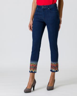Jeanshose mit Exklusiv Druck