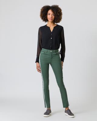 Jeans mit Streifen-Details