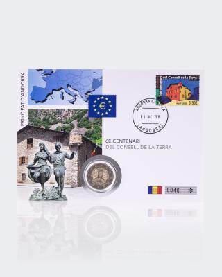 2€ Numisbrief Andorra Consell de la Terra