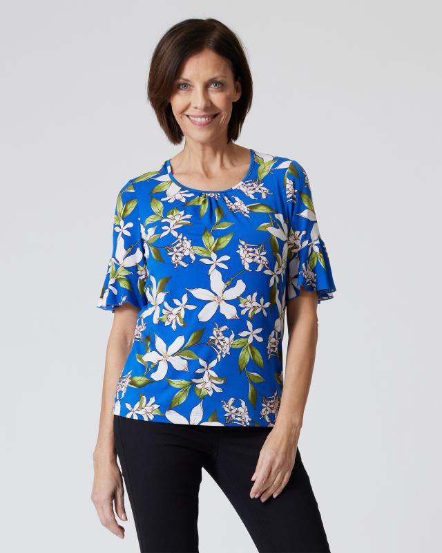 Shirt mit Magnolien-Print