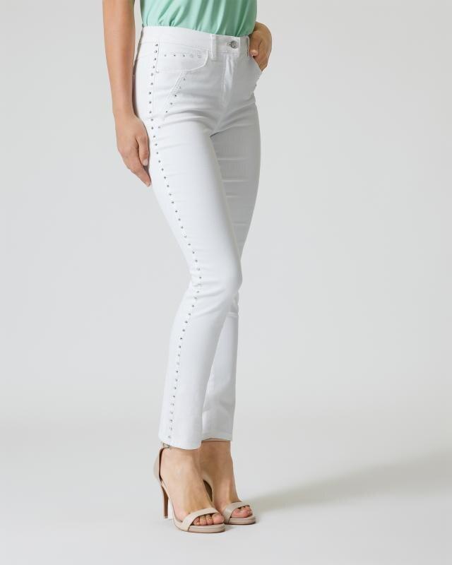 Jeans mit Strasssteinverzierung
