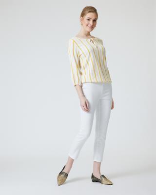Tunika-Bluse längsgestreift