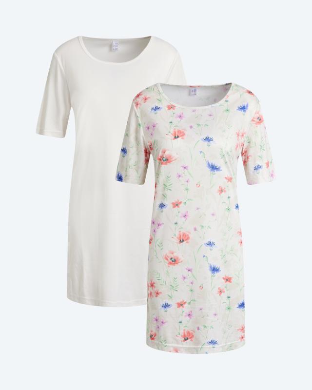 "Longshirt ""Fleur"", 2tlg."