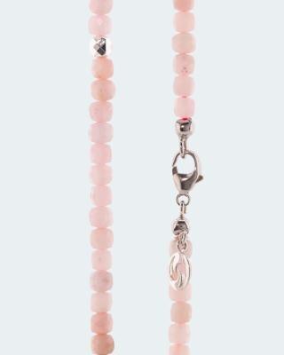 Collier mit Pink Opal und Hämatit