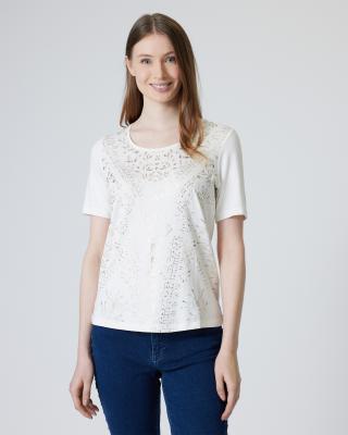 Shirt mit Gold-Print