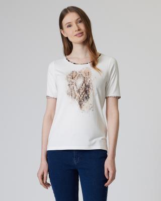 Shirt mit Animal-Details