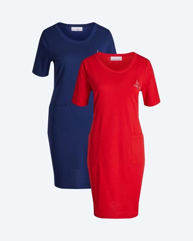 Jerseykleid mit Sommermotiv, 2er-Set