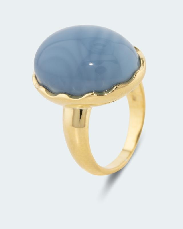 Ring mit blauem Opal