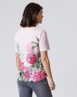 Kurzarmshirt mit Blumendruck