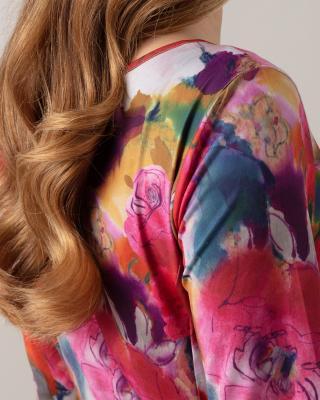 A-Linienkleid mit Blumendruck