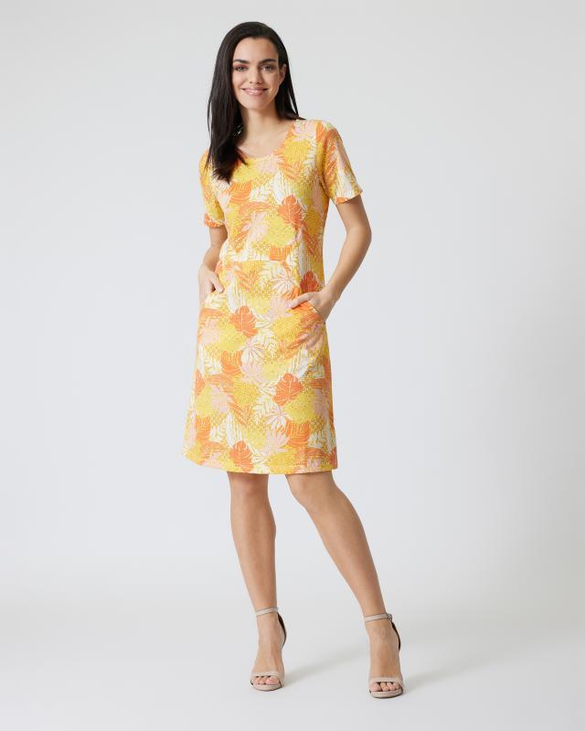 Kleid mit Botanik-Print