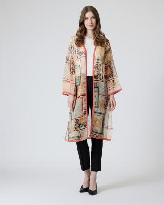 Kimono mit Ornamentdruck