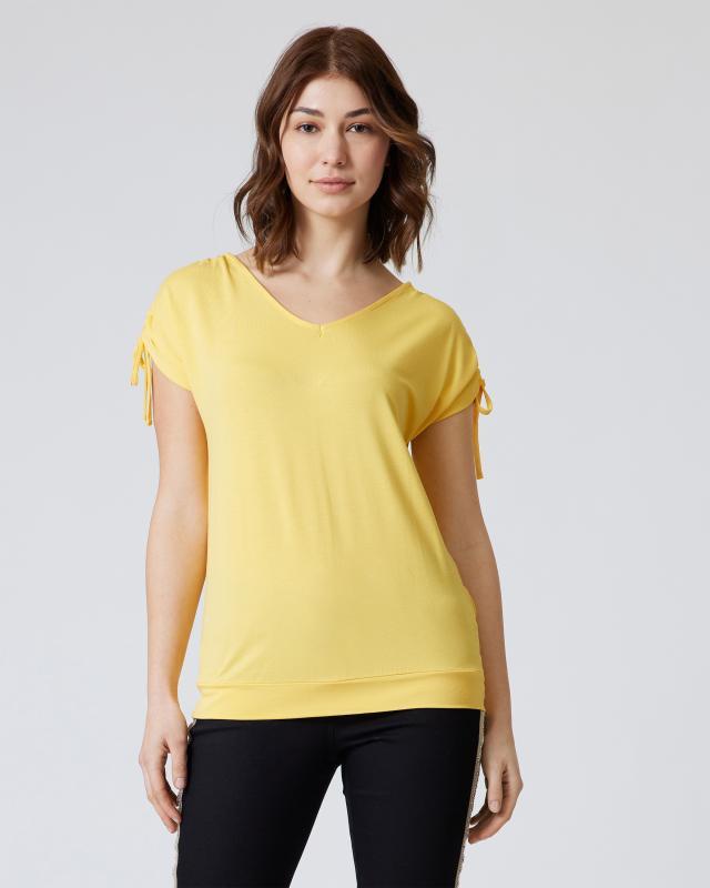 Shirt mit Schulterraffung