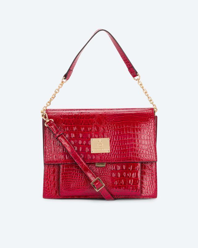 Überschlagtasche mit Vordertasche