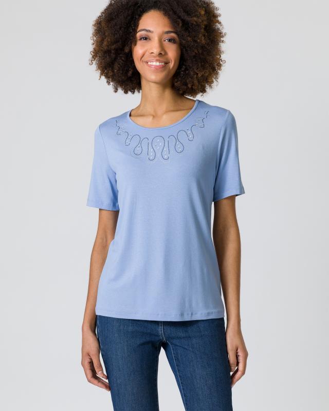 Shirt mit Strassverzierung
