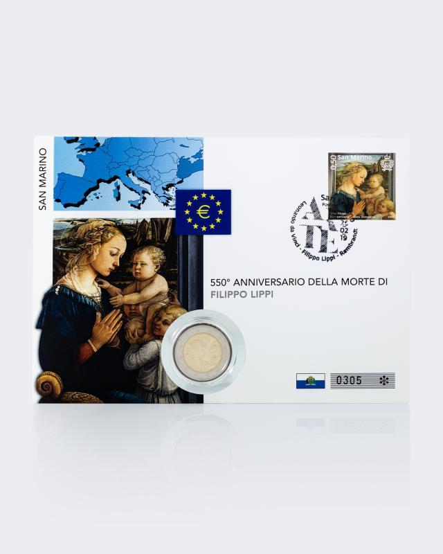 2€ Numisbrief San Marino - F. Lippi 2019