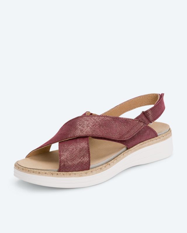 Sandale mit Glanzeffekt