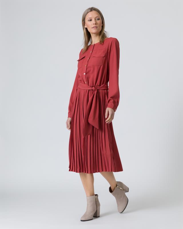 Blusenkleid mit Plissée