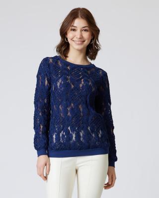 Pullover mit Meshverzierung