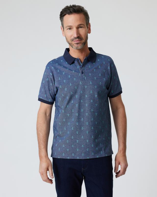 Poloshirt mit Anker-Print