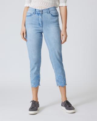 5-Pocket-Jeans mit Stickerei