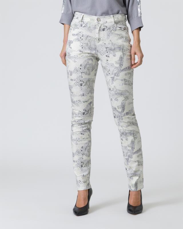 5-Pocket Jeans mit Foilprint