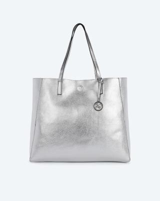 Shopper in Metallic-Optik
