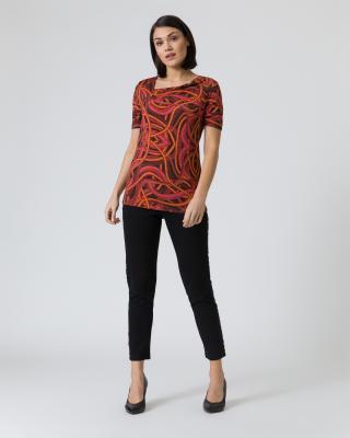 Shirt mit raffiniertem Ausschnitt