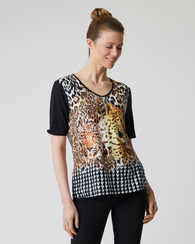 "Shirt ""Glencheck Leopard"""