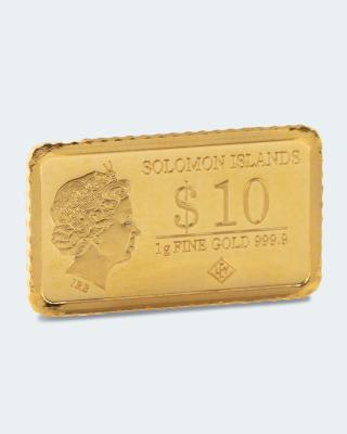 1 g Gold Prag Karlsbrücke