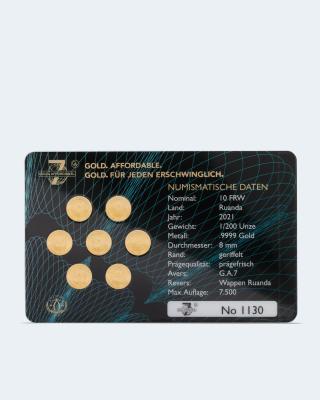Goldmünzen Investment 7 2021, 7tlg.