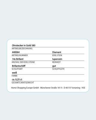 Brillant-Ohrstecker mit 0,25 Karat
