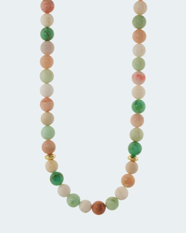 Collier mit Opal, Chrysopras und Hämatit