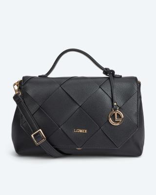 Überschlagtasche im Flechtdesign