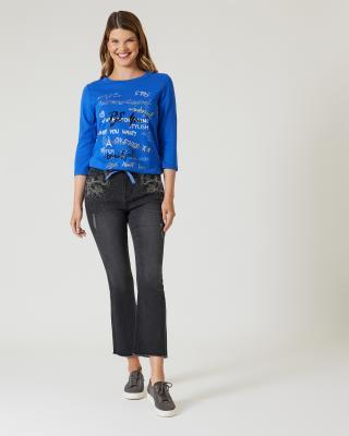 Jeans mit Strassmotiv