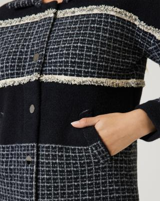 Strickjacke classical Shirt Style
