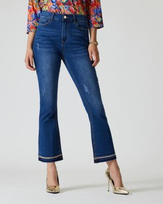 Jeans mit Perlen-Deko