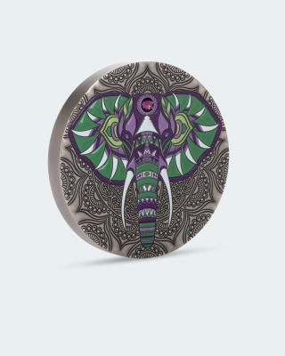 Silberkilo Mandala Elefant Swarovski®