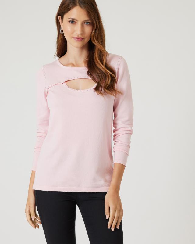 Pullover mit Nietendeko