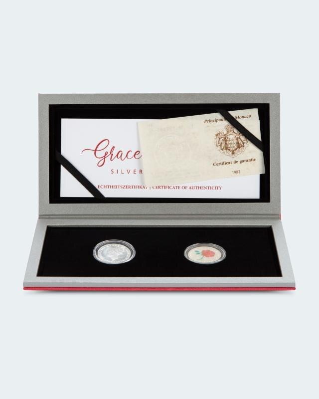 Silber-Münz-Set Grace Kelly, 2tlg.