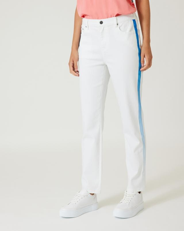 Jeans mit Degradé-Tape