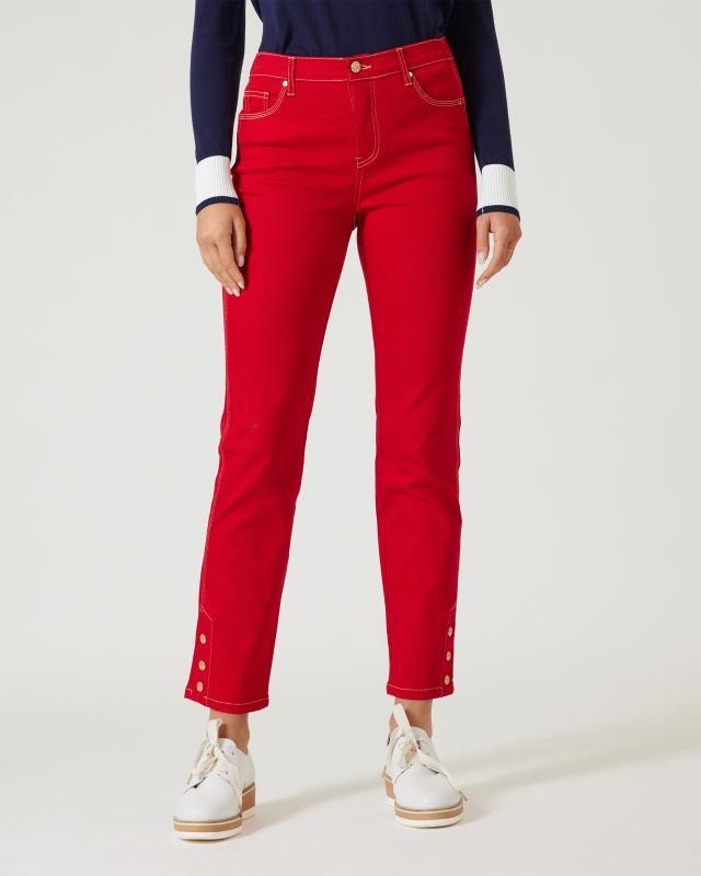 Jeans mit Kontraststepp