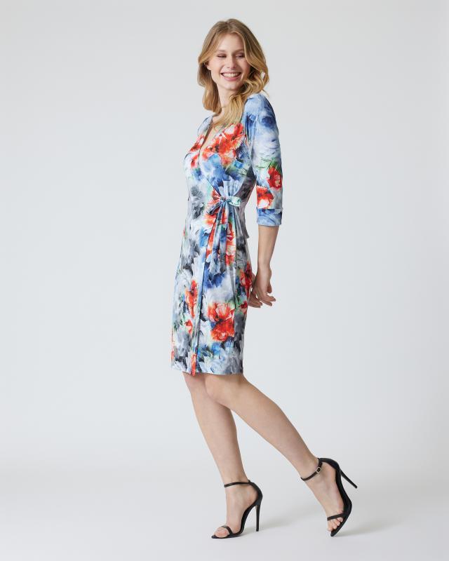 Wickelkleid mit Blumen-Design