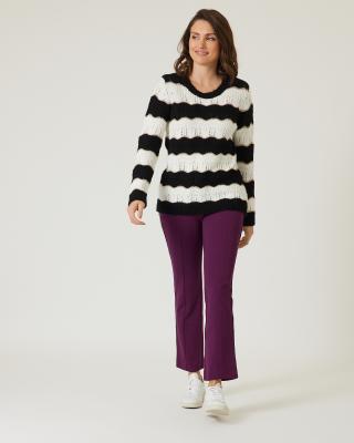 Wellenstreifen Pullover