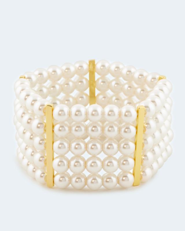 Armband mit 5 Perlenreihen